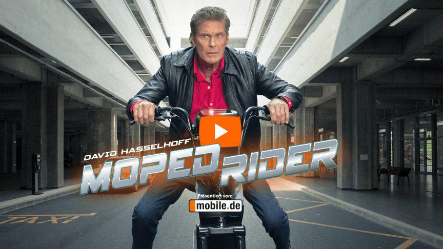 David Hasselhoff v reklamě Mobil.de