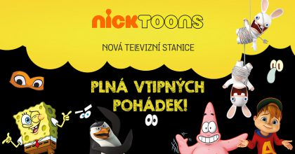 Televizní kanál pro děti Nicktoons začne vysílat vČesku