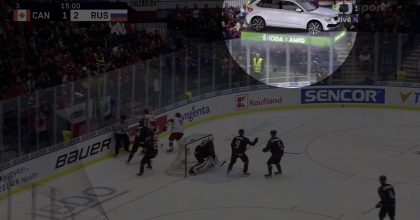 Ve vysílání hokejových přenosů se poprvé objevily virtuální modely vozů Škoda