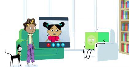 Animovaný seriál jako mediální výchova. Projekt učí děti chování nainternetu