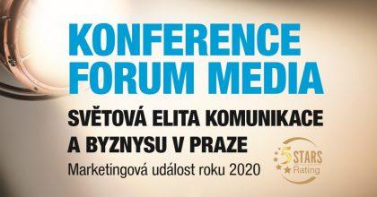Forum Media uvítá špičkové řečníky zcelého světa. Přivčasné rezervaci ušetříte