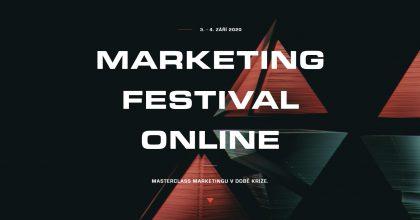 Marketing Festival proběhne 3.a4.září. Pořadatelé točí přednášky