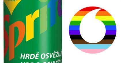 """Coca-Cola nabízí """"Hrdý Sprite"""". Vodafone se převlékl doduhové"""