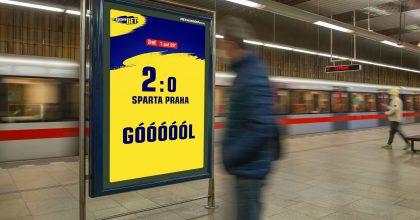 MetroZoom vytvořil pro Sazkabet první dynamickou OOH reklamu vČesku