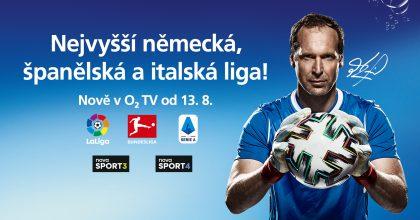 Diváci O2 TV se dočkají Ligy mistrů, německé Bundesligy, italské Serie Aišpanělské La Ligy