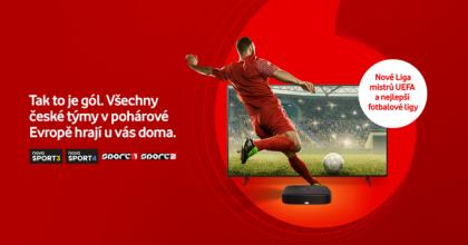 Na Vodafone TV přibude Liga mistrů idalší prestižní přenosy