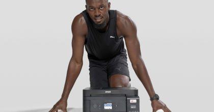 Epson představil Usaina Bolta aspolečně propagují tisk bez inkoustových kazet